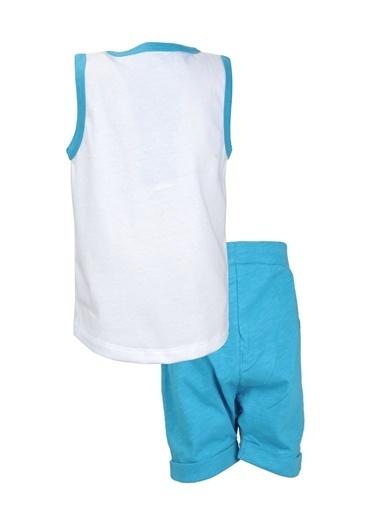 Mininio Mavi Miami Kolsuz T-Shirt ve şort Takım (9ay-4yaş) Mavi Miami Kolsuz T-Shirt ve şort Takım (9ay-4yaş) Mavi